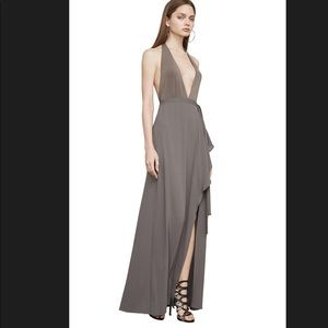 BCBGMAXAZRIA Angeline dress in Taupe Color